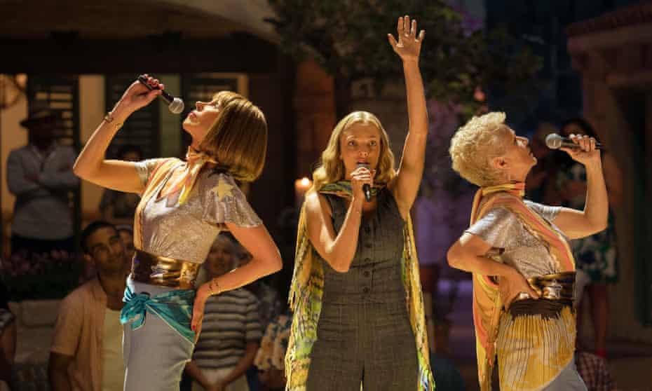 Christine Baranski, Amanda Seyfried and 'reliable delight' Julie Walters in Mamma Mia! Here We Go Again.