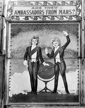 A poster billing them as Martians.