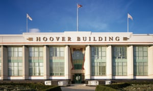 Exterior of the art deco-design Hoover building in west London.