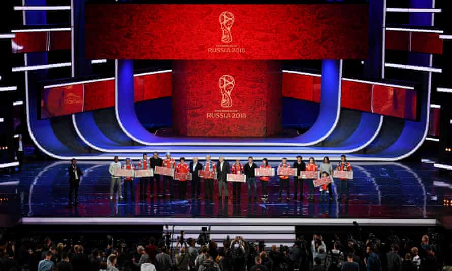 The rehearsal for the 2018 World Cup draw at the Kremlin.
