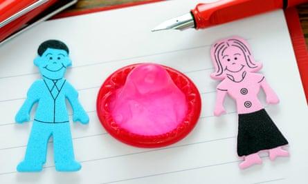 man woman condom