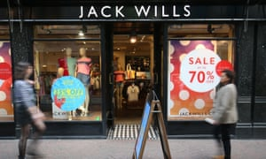 A Jack Wills store in Foubert's Place, Soho, London