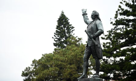 A Captain Cook statue in Hyde Park in Sydney