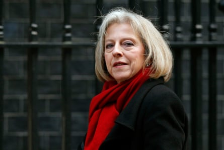 Theresa May as Home Secretary in 2012