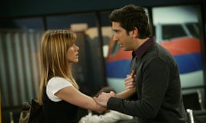 Jennifer Aniston and David Schwimmer as Rachel and Ross in Friends.