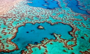 Aerial view of part of the Great Barrier Reef