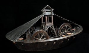 An armoured vehicle by Leonardo da Vinci.