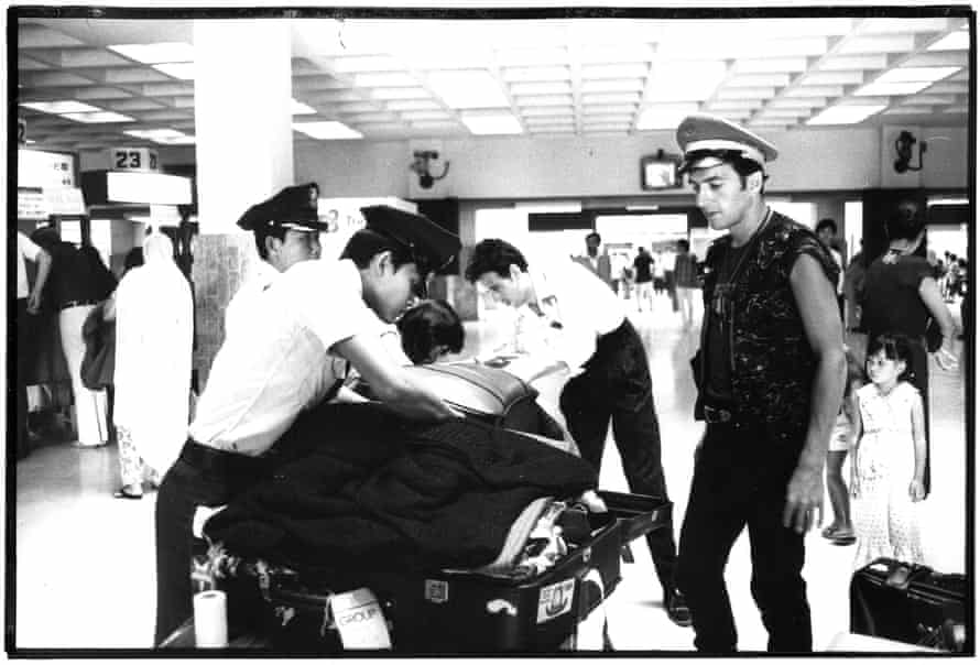Clampdown … Strummer stopped at customs.