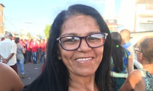"""""""I want to thank President Lula,"""" said Francilene da Silva, 44, a maid who benefited from a housing scheme introduced during Lula's eight-year reign."""