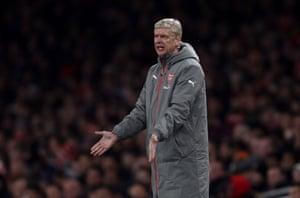 Wenger, not happy.