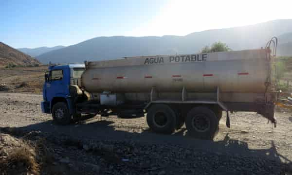 The drought has forced the residents of Petorca to use water transported by trucks.