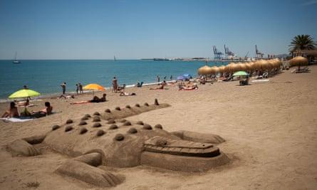 Beach in Málaga, Spain