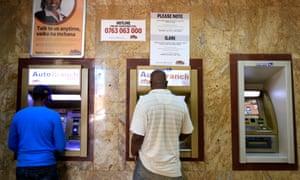 Cash machines in Kenya
