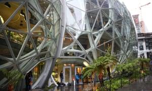 Amazon's Seattle headquarters in Seattle, Washington, US, January 29, 2018.