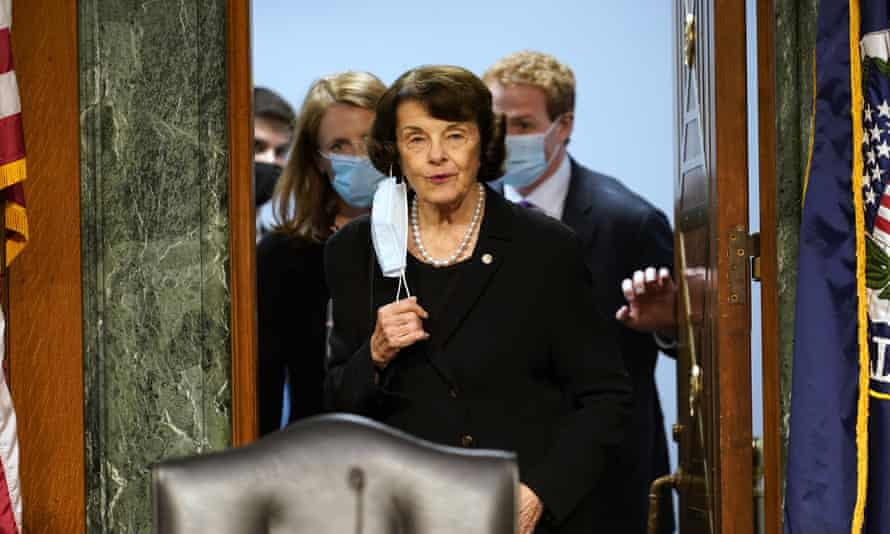 Dianne Feinstein at a judiciary committee hearing on Capitol Hill this month.