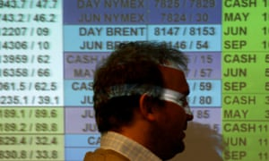 A dealer at work on the trading floor