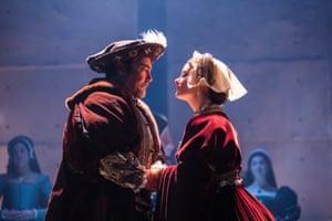 Nathaniel Parker (King Henry VIII) and Rosanna Adams (Anna)