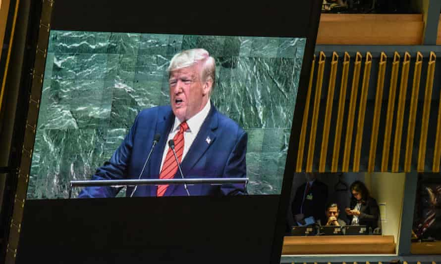 'Donald Trump – leader of the world's most powerful country, which helped establish the UN – is sabotaging efforts to collectively tackle the pandemic and other threats that the UN was created to solve.'