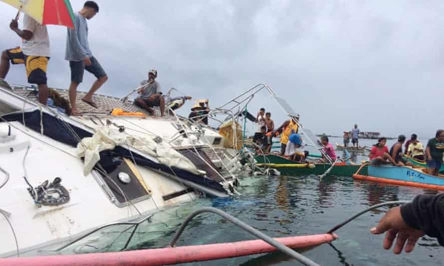 The yacht was found floating off Barabo.