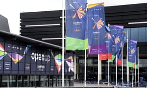 Eurovision Song Contest preparations, Ahoy Arena, Rotterdam, The Netherlands