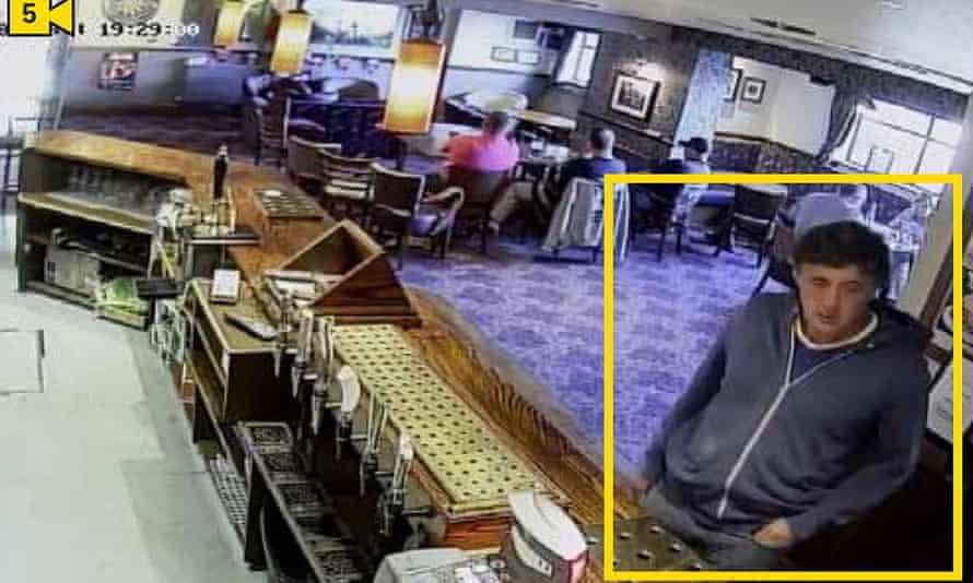 A CCTV still of Darren Osborne from a pub in Cardiff