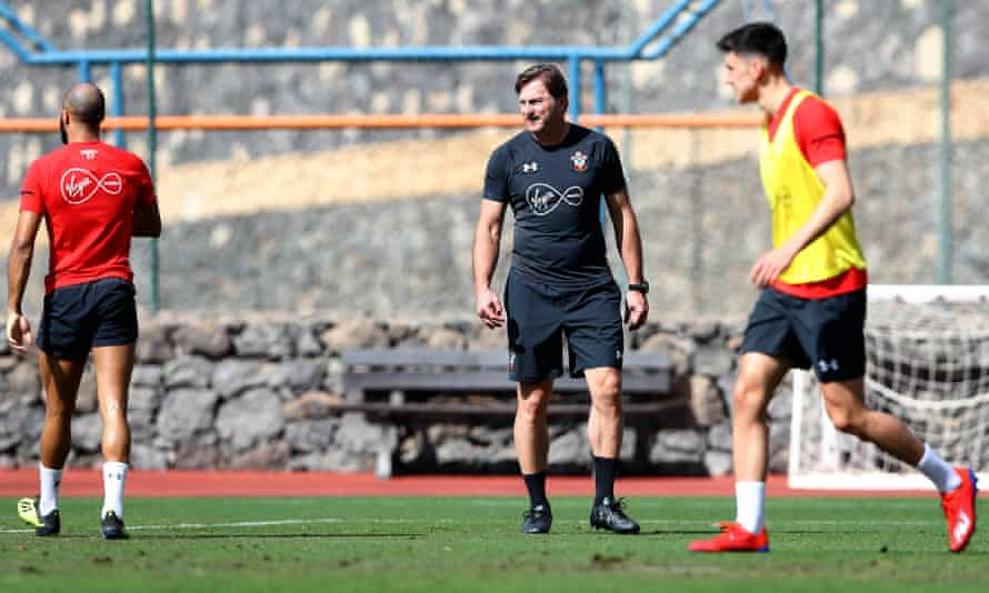 Ralph Hasenhüttl took his players to a training camp in Tenerife.
