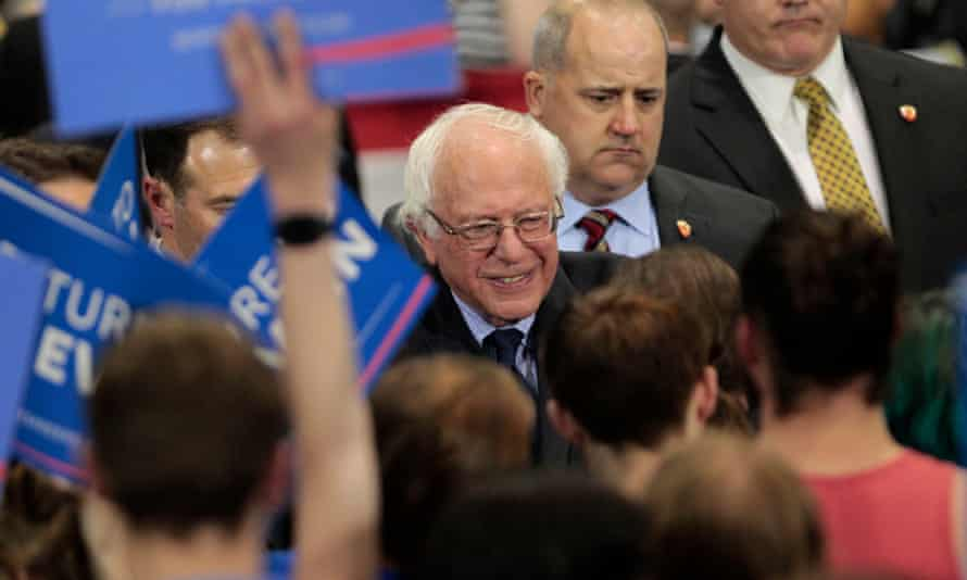 Bernie Sanders Holds Election Night Rally In West Virginia.