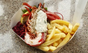 Lobster and chips from the East Pier Smokehouse
