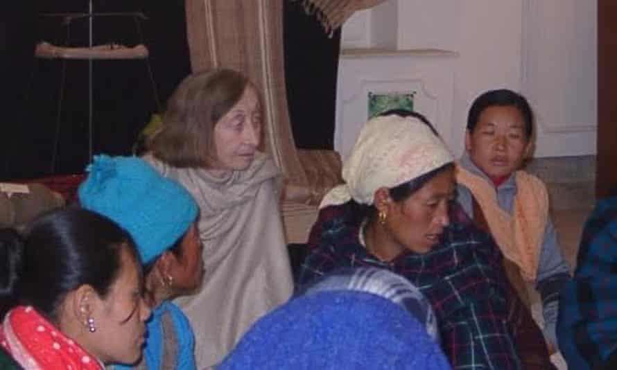 Susi Dunsmore, centre, with Nepalese women in Kathmandu.
