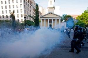 Not tear gas, says Trump. Tear gas, says the CDC.