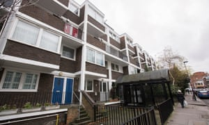 Council housing in Islington, north London.