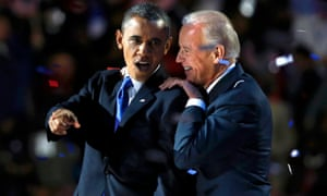 Barack Obama and Joe Biden after they won re-election in 2012.