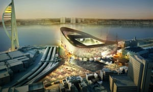 An illustration of Portsmouth's proposed new stadium, published in 2007.