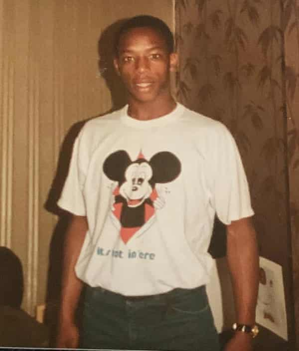 A teenage Ian Wright at home in Brockley, south-east London.