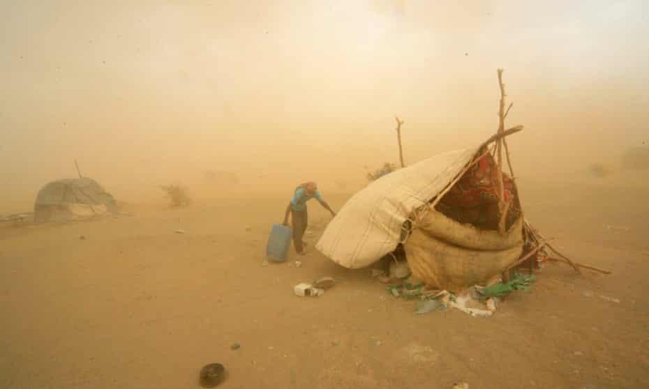 A sandstorm in Al-Ibedia, River Nile State