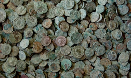 Coins minted by Carausius were among those found in the hoard unearthed near Frome, Somerset, in 2010.