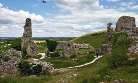 National Trust's Corfe Castle in Dorset