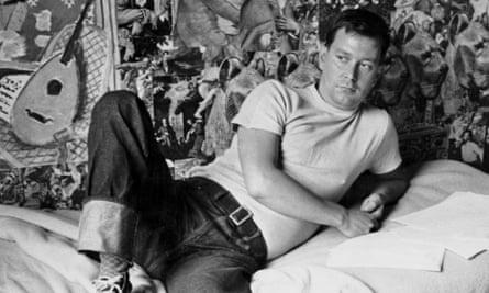Joe Orton at his flat in Noel Road, Islington, London, circa 1965.