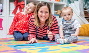 Hove resident Genevieve Roberts with her children, Astrid, two, and Xavier, nine months.