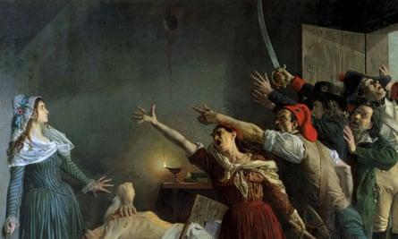 The Assassination of Marat, 1886 (oil on canvas) - Weerts, Jean Joseph (1847-1927) - Musee d'Art et d'Industrie, Roubaix, France