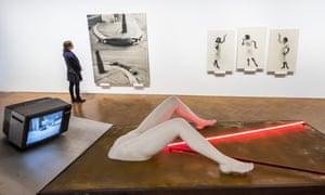Everyday oppression … Gerburtenbett (Birth bed), the centrepiece of Export's Biennale exhibition.