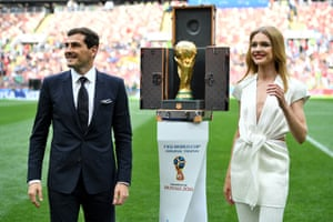 Iker Casillas with the World Cup trophy