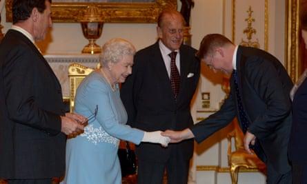 Heywood meeting the Queen in 2015.
