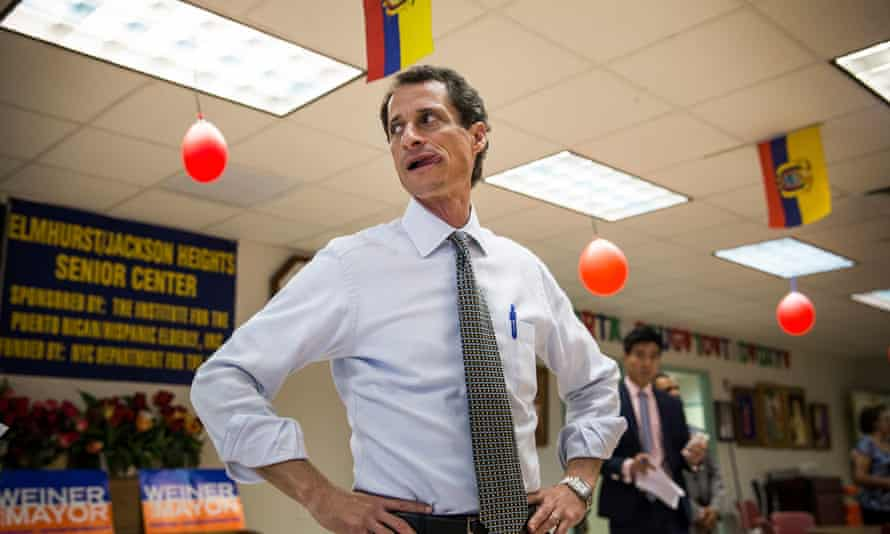 Anthony Weiner in 2013. Devices he used reportedly contained emails 'pertinent' to the Hillary Clinton email investigation.