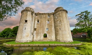 Nunney medieval moated castle in Somerset.