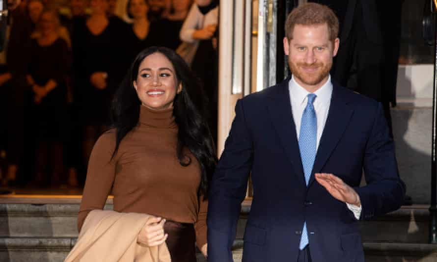 Duke and Duchess of Sussex at Canada House in London