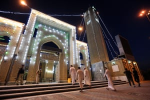 Muslims perform Eid al-Adha prayer at Abu Hanifa Mosque in Baghdad, Iraq