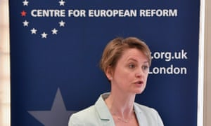 Yvette Cooper gives a speech on Britain's future following the EU referendum result, on Tuesday.