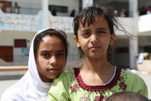 """These children have taken shelter at a school in Sana'a, along with around 200 people from the Saada governorate, near the border with Saudi Arabia. Unicef <a href=""""http://www.un.org/apps/news/story.asp?NewsID=51300#.VZUzlmTF_5o"""">has said</a> that millions of children are at risk of diseases such as measles because they are no longer receiving vaccinations<br>"""
