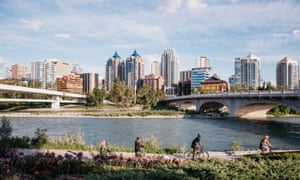 The Bow River flows through the heart of the city.